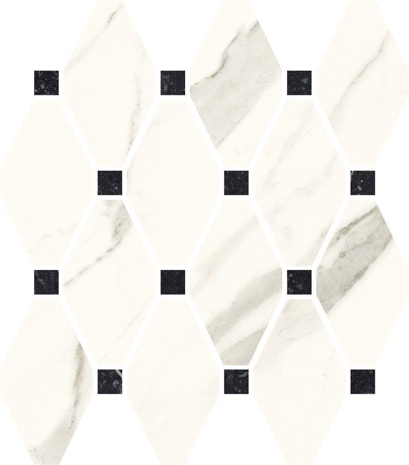 Calacatta Mozaika Cięta Mix Poler 23.6x25.2