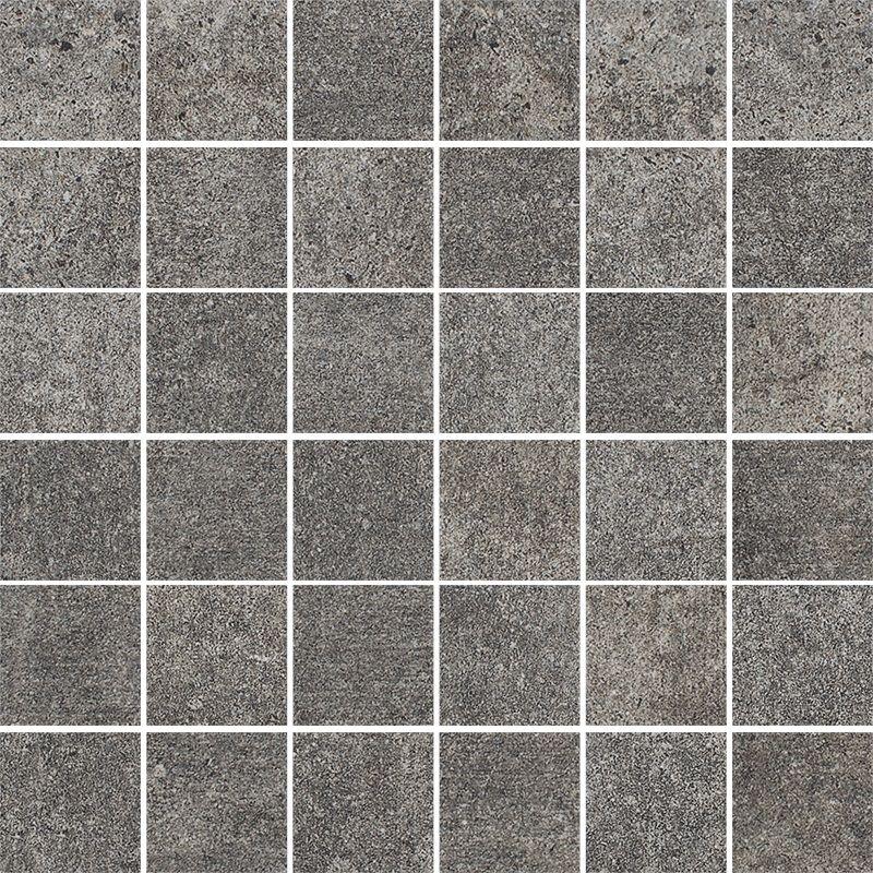 Riversand Grafit Mozaika Cięta K.4,8X4,8 Półpoler 29.8x29.8