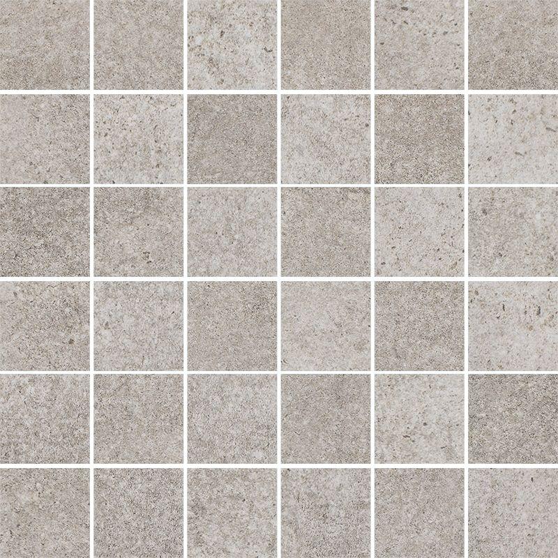 Riversand Grys Mozaika Cięta K.4,8X4,8 Półpoler 29.8x29.8
