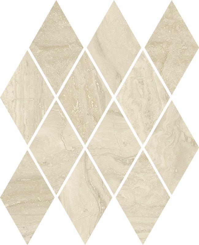 Silence Beige Mozaika Prasowana Romb Pillow Mat
