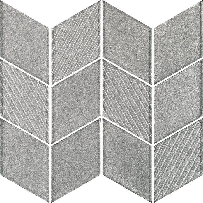 Uniwersalna Mozaika Szklana Silver Romb 23.8x20.5