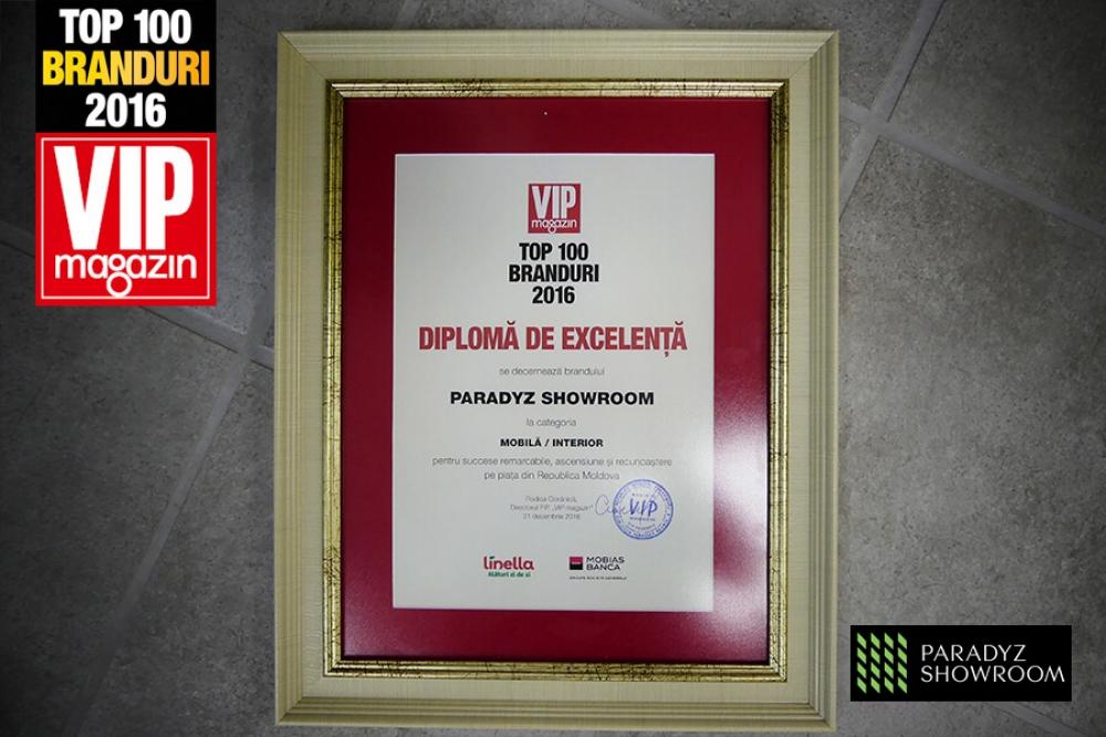 Top 100 branduri din Moldova - Paradyz Showroom