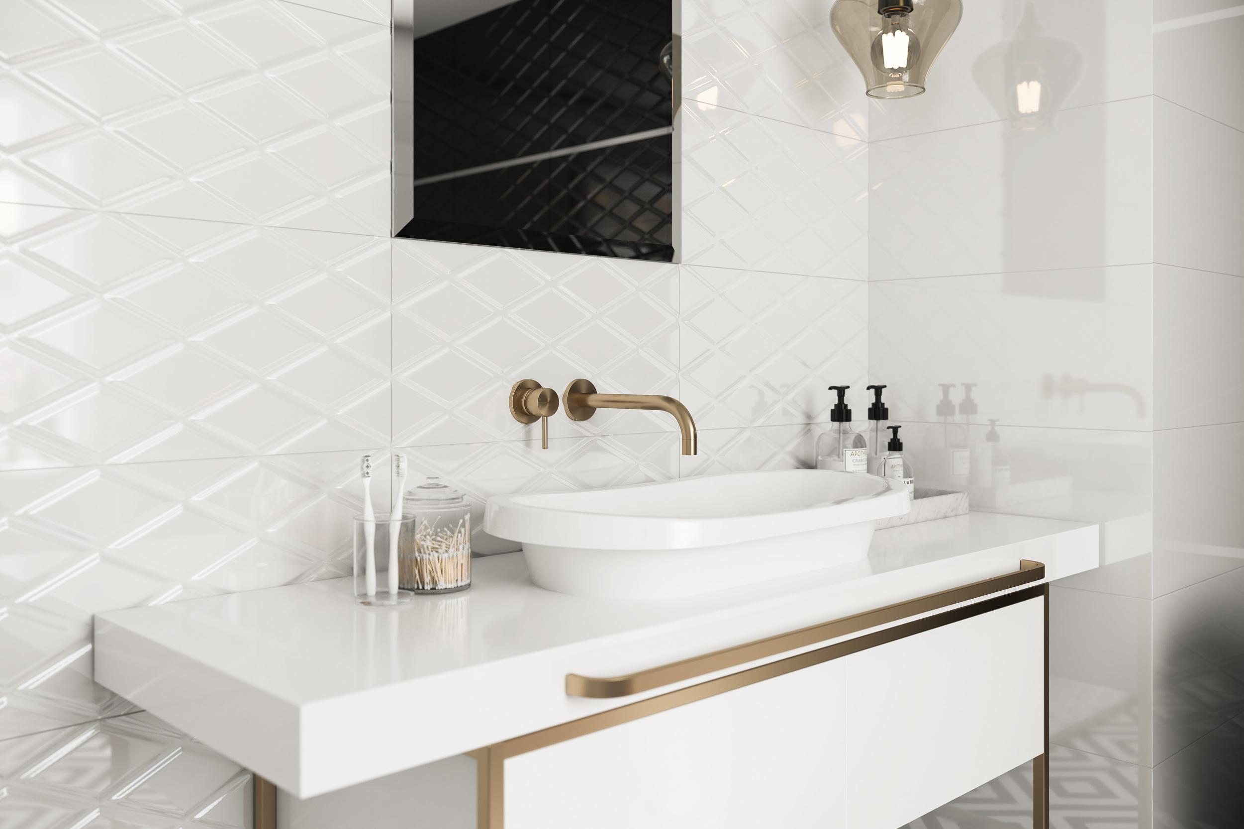 Motive geometrice în baie
